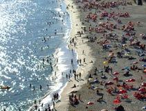 Pret in het strand Stock Foto's