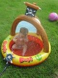 Pret in het water Stock Foto's