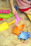 Pret in het zand stock afbeelding