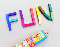 Pret in kleurenpastelkleuren Stock Fotografie