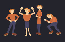 Pret mannelijke karakters stock illustratie