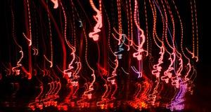 Pret met de Lichten van de Nacht stock fotografie