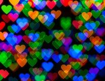 Pret Multicolored Kerstmis Lichte Bokeh Stock Afbeeldingen