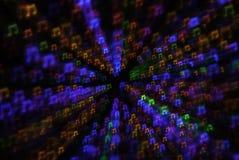 Pret Multicolored Kerstmis Lichte Bokeh met Abstracte Motie Royalty-vrije Stock Foto