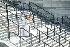 Pret op de stappen van Royalty-vrije Stock Foto's