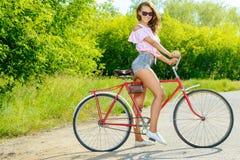 Pret op fiets Royalty-vrije Stock Fotografie