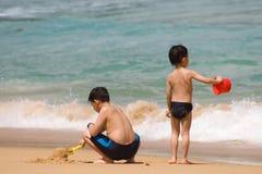 Pret op het strand Stock Foto
