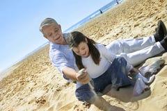 Pret op het strand Stock Afbeelding