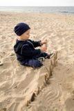 Pret op het strand Stock Foto's