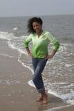Pret op het strand Stock Afbeeldingen