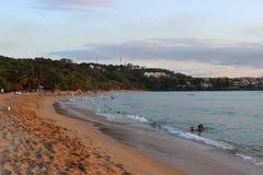 Pret op het strand royalty-vrije stock fotografie