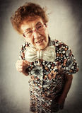 Pret oude vrouw Royalty-vrije Stock Foto
