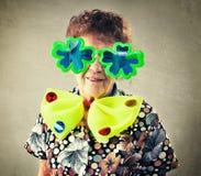 Pret oude vrouw Royalty-vrije Stock Fotografie