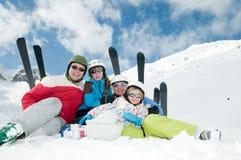Pret in sneeuw Stock Foto