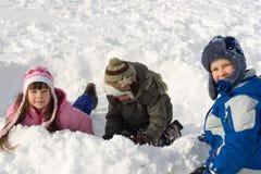 Pret in Sneeuw Royalty-vrije Stock Afbeelding