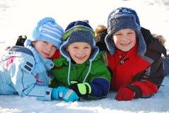 Pret in sneeuw Stock Foto's