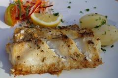 Preta d'Espada - carbo d'aphanopus - fruits de mer spéciaux de la Madère Photographie stock libre de droits