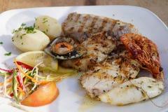Preta d'Espada - carbo d'aphanopus - fruits de mer spéciaux de la Madère Photos stock