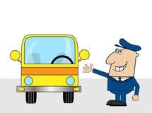 Pretbuschauffeur Stock Afbeelding