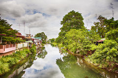 Pretchaburi river landscape Royalty Free Stock Images