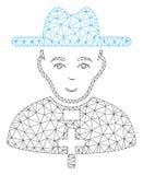 Prete cattolico Polygonal Frame Vector Mesh Illustration illustrazione di stock