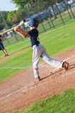 Pre-teen baseball player at bat Royalty Free Stock Photography