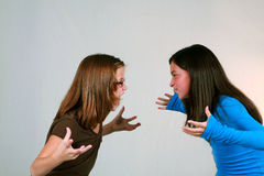 Preteen Fight Royalty Free Stock Photography