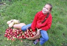 Preteen girl on grass Royalty Free Stock Photos