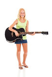 Preteen girl guitar Royalty Free Stock Photo