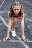 Preteen girl running Royalty Free Stock Photography