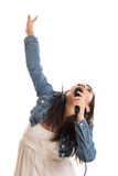 Preteen girl singing Stock Photography