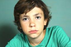 Preteen handsome boy close up portrait Stock Photography