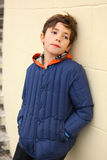 Preteen handsome lonely offended boy Stock Photography