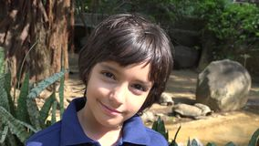 Preteen Hispanic Boy at Turtle Exhibit. A cute Preteen Hispanic Boy at Turtle Exhibit stock video footage