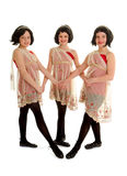 Preteen Irish Dance Trio in Wigs Royalty Free Stock Images