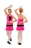 Preteen Jazz Dance Duo stock image