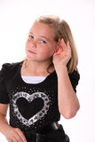 Preteen Listening or Hearing Royalty Free Stock Photos