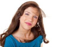 Preteen School Girl. Pretty preteen school girl model Stock Images