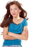 Preteen School Girl. Pretty preteen school girl model Royalty Free Stock Photo