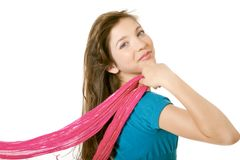 Preteen School Girl With Scarf Stock Photography