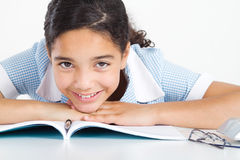 Preteen schoolgirl Royalty Free Stock Photo