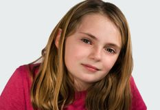 Preteen schoolgirl Royalty Free Stock Photos