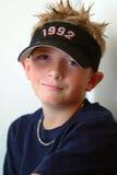 Preteen - Spike Hair. Preteen boy with spiked blond hair Stock Photos