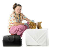 Pretending Pet Vet Stock Photos