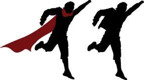 Pretending a superhero. Teen running and pretending a superhero Royalty Free Stock Photos