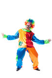 Pretending to be upset clown posing at camera Stock Photography