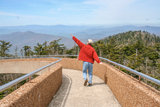 Pretending to Fly at Clingman's Dome Stock Photo