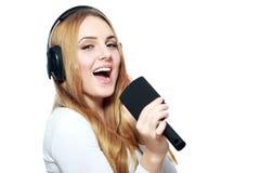 Pretending to sing Stock Photo