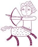 Prethoroscoop - het teken van de Boogschutterdierenriem Stock Foto's