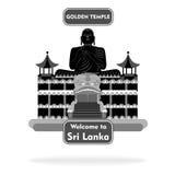 Preto ajustado do sinal de Sri Lanka Fotografia de Stock